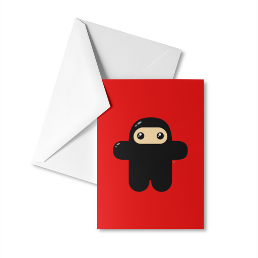 Original Wee Ninja Greeting Card
