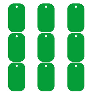 Green Dog Tag  Aluminum Pet ID Tag