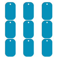 Load image into Gallery viewer, Light Blue Dog Tag  Aluminum Pet ID Tag