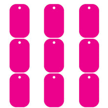Load image into Gallery viewer, Hot Pink Dog Tag  Aluminum Pet ID Tag