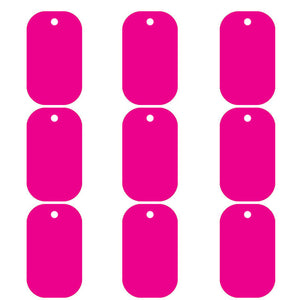 Hot Pink Dog Tag  Aluminum Pet ID Tag