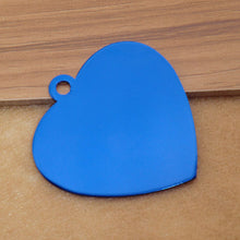Load image into Gallery viewer, Engravable Aluminum Heart Shaped Pet ID Tag