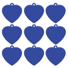 Load image into Gallery viewer, Dark Blue Heart  Aluminum Pet ID Tag