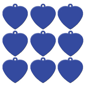 Dark Blue Heart  Aluminum Pet ID Tag