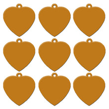 Load image into Gallery viewer, Gold Heart  Aluminum Pet ID Tag