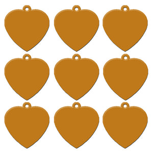 Gold Heart  Aluminum Pet ID Tag