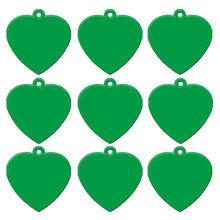 Load image into Gallery viewer, Green Heart  Aluminum Pet ID Tag
