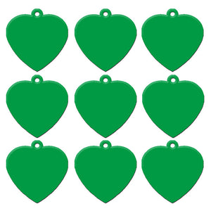 Green Heart  Aluminum Pet ID Tag