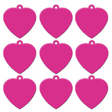 Load image into Gallery viewer, Hot Pink Heart  Aluminum Pet ID Tag