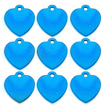 Load image into Gallery viewer, Light Blue Heart  Aluminum Pet ID Tag