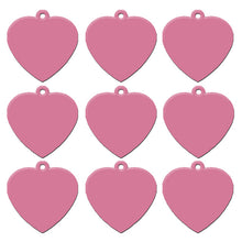Load image into Gallery viewer, Light Pink Heart  Aluminum Pet ID Tag