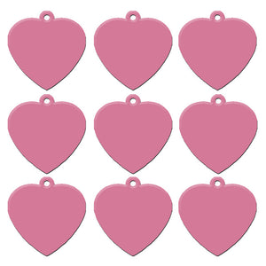 Light Pink Heart  Aluminum Pet ID Tag
