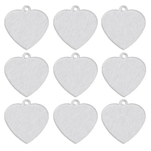 Silver Heart  Aluminum Pet ID Tag