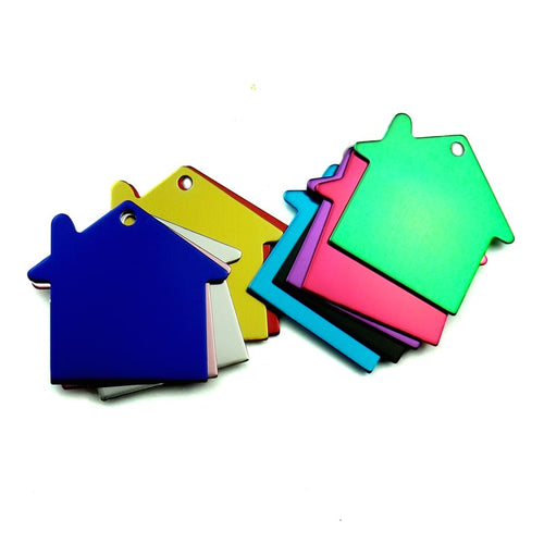 House Aluminum Pet ID Tag