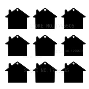 Black House  Aluminum Pet ID Tag