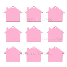 Load image into Gallery viewer, Pink House  Aluminum Pet ID Tag