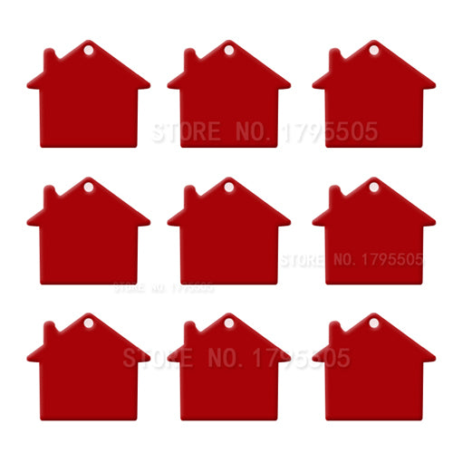 Red House  Aluminum Pet ID Tag