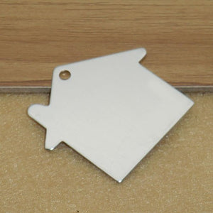 Engravable Aluminium House Shaped ID Tag