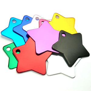 Star  Aluminum Pet ID Tag