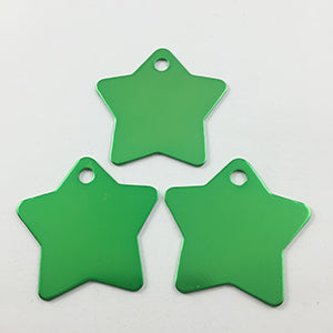 Green Star  Aluminum Pet ID Tag