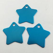 Load image into Gallery viewer, Blue Star  Aluminum Pet ID Tag