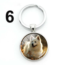 Load image into Gallery viewer, Glass Dome Dog Keychain
