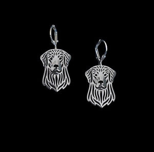 Golden Retreiver Silver Plated Earrings