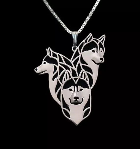 Dog Pendant Necklace for Women - Silver Plated