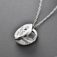 Load image into Gallery viewer, Essential Oil Diffuser Necklace - Love Paw