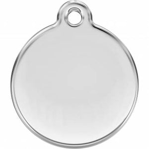 Stainless Steel Circle-Paw Pet ID Tag with Colour Inlay