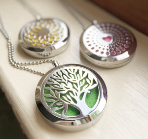 Essential Oil Diffuser Necklace - Tree Off Life for Aroma Therapy