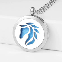 Load image into Gallery viewer, Aroma Therapy Essential Oil Diffuser Necklace - Horse