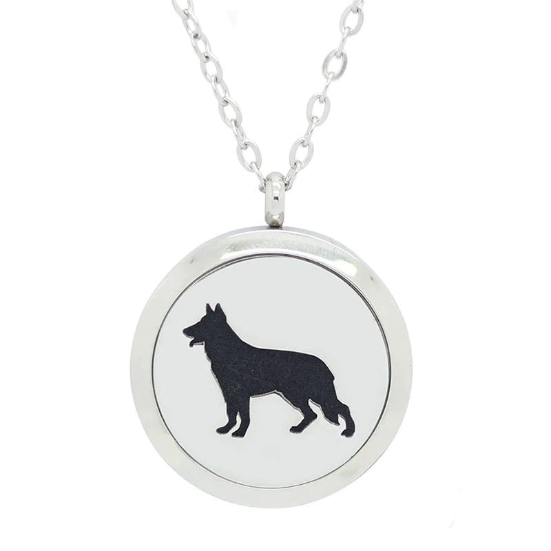 Aroma Therapy Essential Oil Diffuser Necklace - Dog