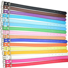 Load image into Gallery viewer, multi colour Leather Dog Collars flat collar