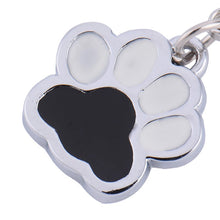 Load image into Gallery viewer, Black and White Paw accessory Charm