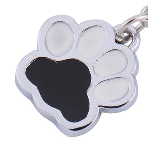 Black and White Paw accessory Charm