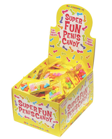 Super Fun Penis Candy - 5 Pcs Per Bag Display Of 100