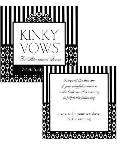 Kinky Vows For The Adventurous Lovers - 72 Activity Cards