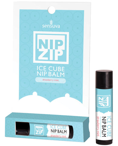 Sensuva Nip Zip Ice Cube Nip Balm - Strawberry Mint