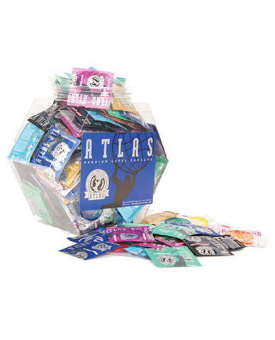Atlas Condoms Assorted - Bowl Of 144