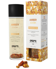 Exsens Of Paris Organic Massage Oil W-stones - Amber Jojoba