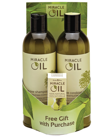 Earthly Body Miracle Oil Shampoo & Conditioner Pack W-free Gift