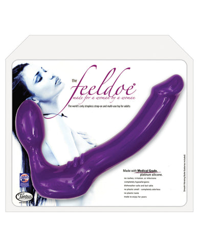 Tantus Vibrating Silicone Feeldoe - Violet