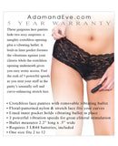 Adam & Eve Vibrating Crotchless Panty - Black