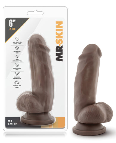 "Blush Dr. Skin Mr. Skin 6"" Dildo W-suction Cup - Mr. Smith"