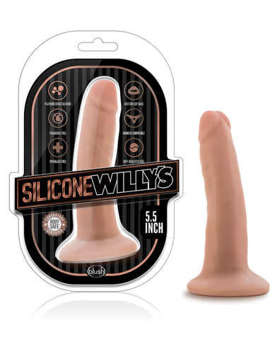 "Blush Willy's 5.5"" Silicone Dildo & Suction Cup - Vanilla"