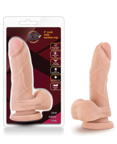 "Blush X5 5"" Cock W-flexible Spine - Beige"