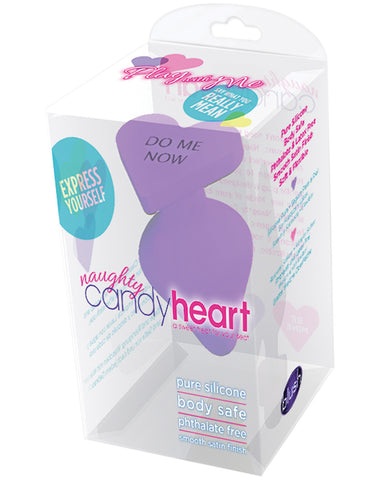 Blush Play With Me Naughty Candy Heart Do Me Now Plug - Purple