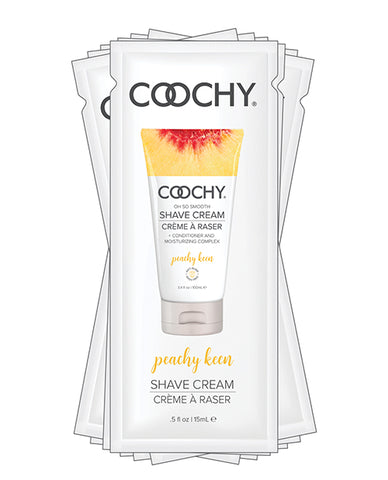 Coochy Shave Cream - .5 Oz Peachy Keen Foil Polybag Of 24