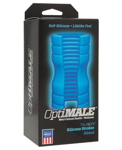 Optimale Truskyn Silicone Stroker Ribbed - Blue